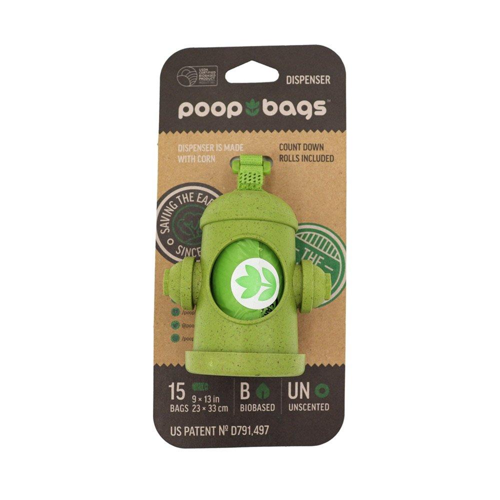 Poop Bags Biobased Hydrant Dispenser - 15 Bags