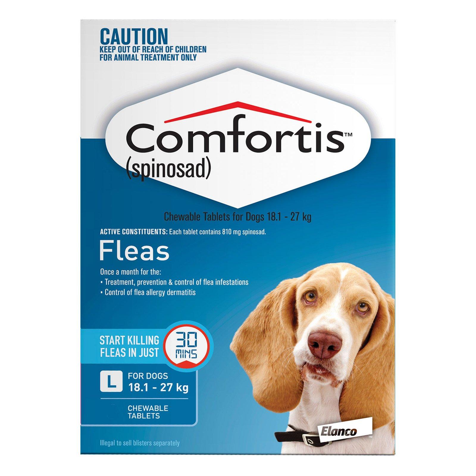 Comfortis For Dogs 18.1 - 27 Kg (Blue)