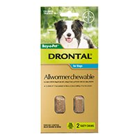 Drontal Wormers Chewable For Dogs Up To 10Kg (Aqua)