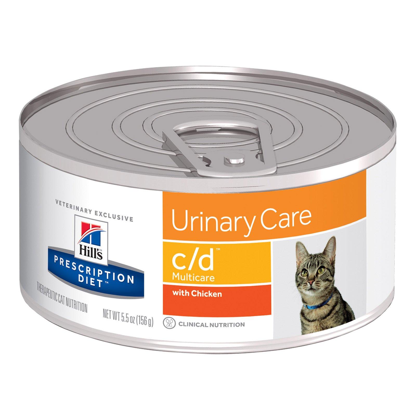 Hill's Prescription Diet c/d Multicare Urinary Care Canned Cat Food 156 Gm Original chicken flavour