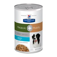 Hill's Prescription Diet Metabolic + Mobility (Weight and Joint Care) with Vegetable and Tuna Stew Canned Dog Food