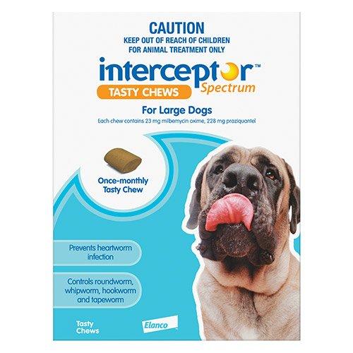 Interceptor Spectrum Tasty Chews For Large Dogs 22 To 45Kg (Blue)